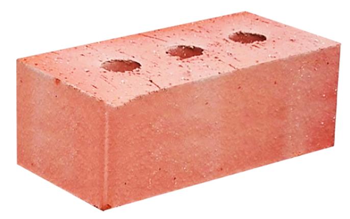 Кирпич строительный полнотелый с тех.пустотами полуторный 1,4 НФ Пу 13% 250*120*88 мм М-200 гладкий